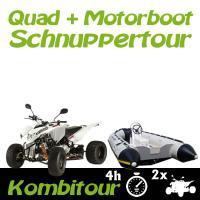 Kombitour 2 x Quad + Motorboot Schnuppertour