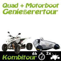 Kombitour 2 x Quad + Motorboot Genießertour